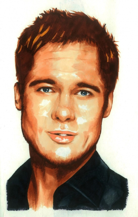 Brad Pitt by BADANIMALS